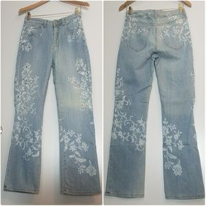 Chico's Womens Sz 0 Embellished Jeans